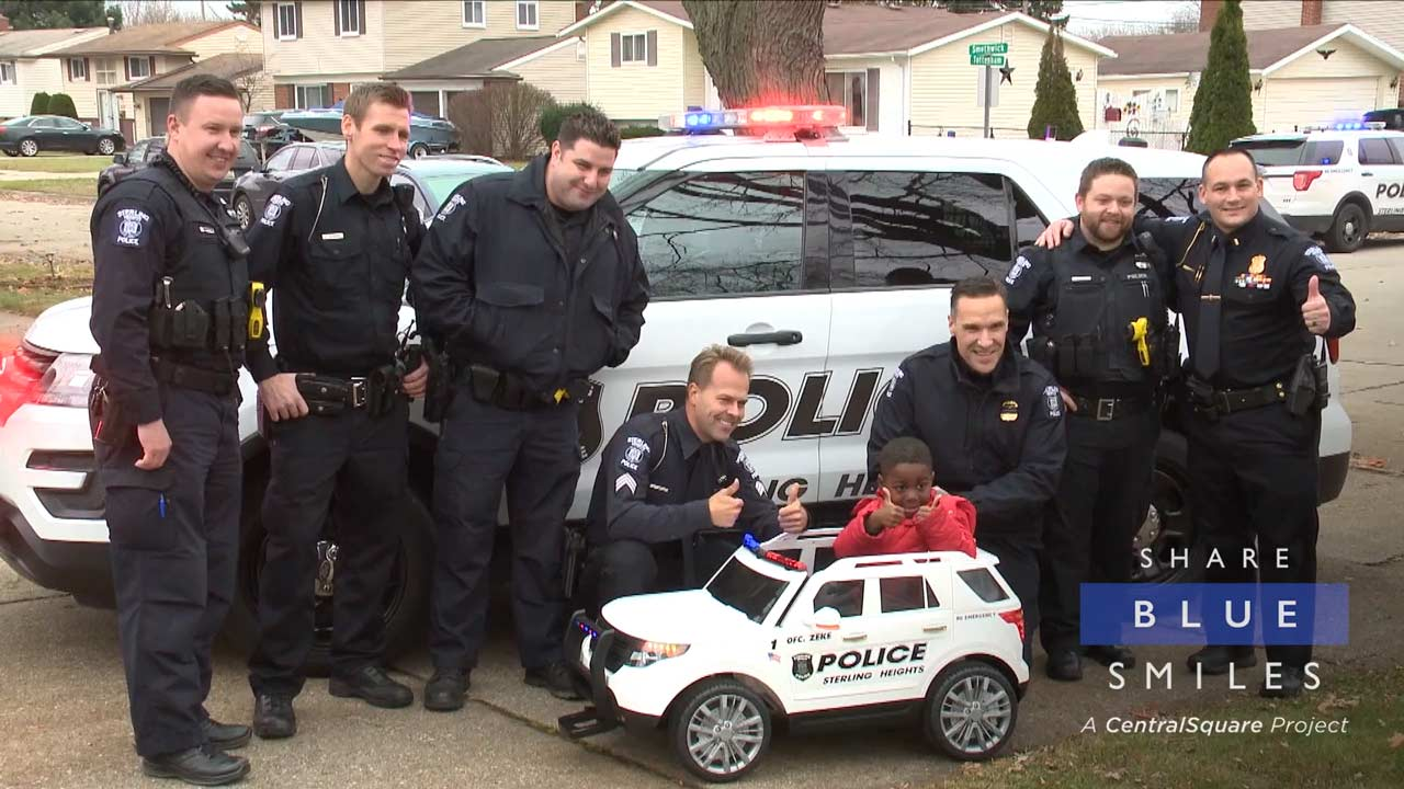 Sterling Heights PD Gifts a Patrol Car to Birthday Boy